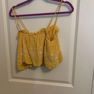 Gold Crop and Shorts Set